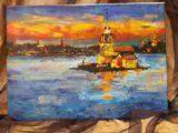 Kız Kulesi Yağlı Boya Tablo 48×35