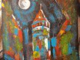 Galata Kulesi 50X50 Yağlı Boya Tablo
